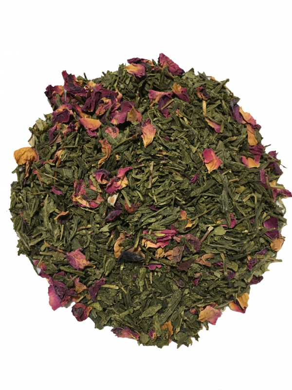 Organic Sencha Kyoto Cherry Rose Green Tea 1