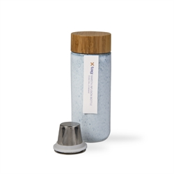 Barista Stoneware Tea Infuser Bottle with Bamboo Lid 1