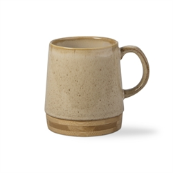 Stoneware and Bamboo Barista Mug and Pour Over Set 5