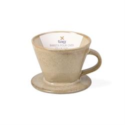 Stoneware and Bamboo Barista Mug and Pour Over Set 6